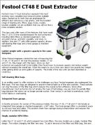 Festool CT48 E Dust Extractor
