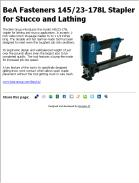 BeA Fasteners 145/23-178L Stapler for Stucco and Lathing