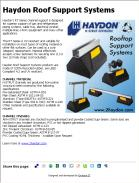 Haydon Roof Support Systems