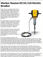 Wacker Neuson EH 65/120 Electric Breaker