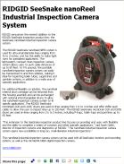 RIDGID SeeSnake nanoReel Industrial Inspection Camera System