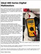 Ideal 480 Series Digital Multimeters