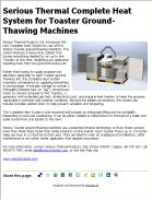 Serious Thermal Complete Heat System for Toaster Ground-Thawing Machines