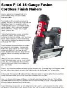 Senco F-16 16-Gauge Fusion Cordless Finish Nailers