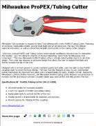 Milwaukee ProPEX/Tubing Cutter