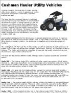 Cushman Hauler Utility Vehicles