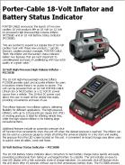 Porter-Cable 18-Volt Inflator and Battery Status Indicator