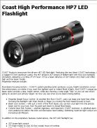 Coast High Performance HP7 LED Flashlight