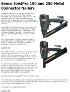 Senco JoistPro 150 and 250 Metal Connector Nailer