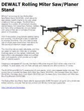 Dewalt Rolling Miter Saw Planer Stand Contractor Supply