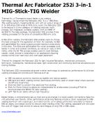 Thermal Arc Fabricator 252i 3-in-1 MIG-Stick-TIG Welder