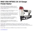 MAX USA NF565/16 16 Gauge Finish Nailer