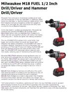 Milwaukee M18 FUEL 1/2 Inch Drill/Driver and Hammer Drill/Driver