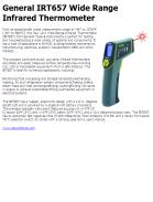 General IRT657 Wide Range Infrared Thermometer