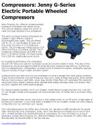 Jenny G-Series Electric Portable Wheeled Compressors