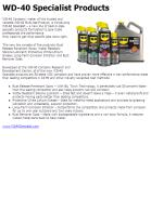 News - 2012.03.28 WD-40 Specialist Products