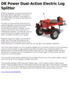 DR Power Dual-Action Electric Log Splitter