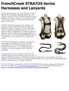 FrenchCreek STRATOS Series Harnesses and Lanyards