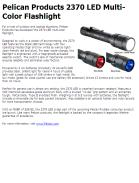 Pelican Products 2370 LED Multi-Color Flashlight
