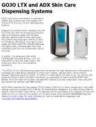 GOJO LTX and ADX Skin Care Dispensing Systems