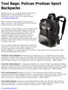 Pelican ProGear Sport Backpacks