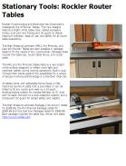 Rockler Router Tables
