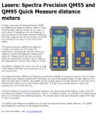 Spectra Precision QM55 and QM95 Quick Measure distance meters