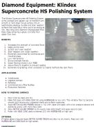 Klindex Superconcrete HS Polishing System