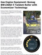 Bomag BW138AD-5 Tandem Roller with Economizer Technology