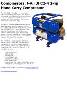Compressors: J-Air JHC2-4 2-hp Hand-Carry Compressor