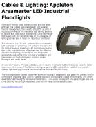 Cables & Lighting: Appleton Areamaster LED Industrial Floodlights