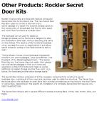 Other Products: Rockler Secret Door Kits