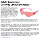 Safety Equipment: Gateway GirlzGear Eyewear