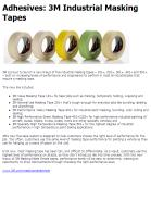3M Industrial Masking Tapes