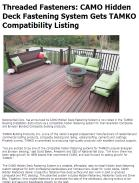 CAMO Hidden Deck Fastening System Gets TAMKO Compatibility Listing