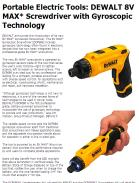 Portable Electric Tools: DEWALT 8V MAX Screwdriver with Gyroscopic Technology