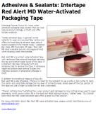 Intertape Red Alert MD Water-Activated Packaging Tape