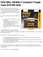 DEWALT Compact Tough Case Drill Bit Sets