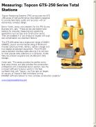 Measuring: Topcon GTS-250 Series Total Stations