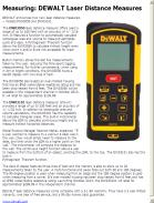 DEWALT Laser Distance Measures