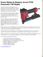 Arrow PT50 Pneumatic T50 Stapler