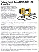 DEWALT 20V MAX Grease Gun
