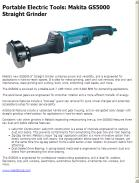 Makita GS5000 Straight Grinder