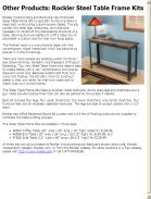 Other Products: Rockler Steel Table Frame Kits