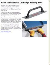 Hand Tools Malco Drip Edge Folding Tool Contractor