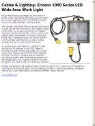 Ericson 1000 Series LED Wide Area Work Light