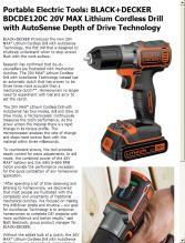 Portable Electric Tools Black Decker Bdcde120c 20v Max