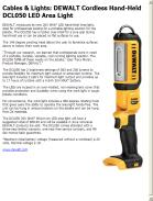 DEWALT Cordless Hand-Held DCL050 LED Area Light