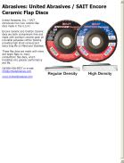 Abrasives: United Abrasives / SAIT Encore Ceramic Flap Discs