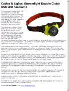 Streamlight Double Clutch USB LED headlamp
